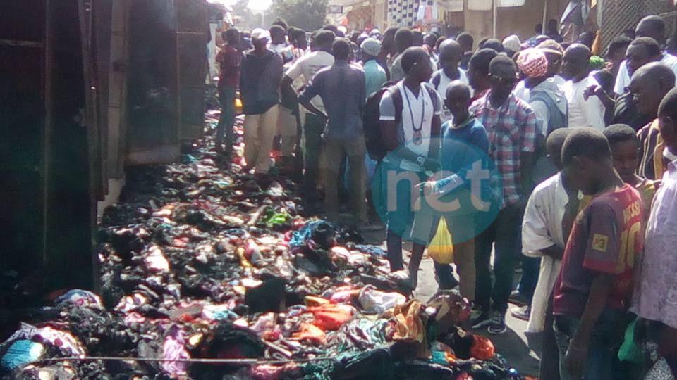 Photos-Le sinistre au marché HLM après l'incendie qui s'est déclaré vers 4h du matin en quelques images!!