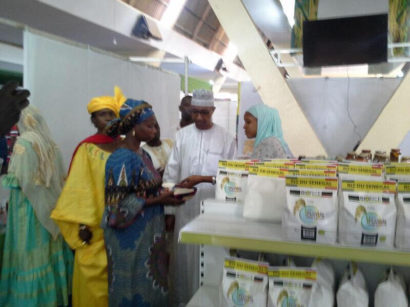 """Photos: Abdoul Mbaye laboure """"dans la FIARA"""" avec les femmes transformatrices et travailleuses"""
