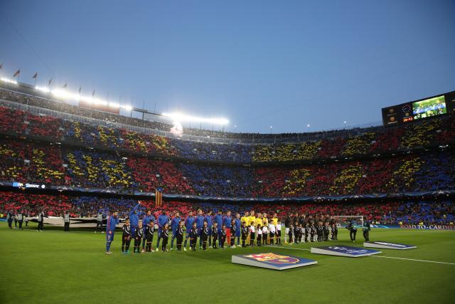 Ligue des champions: le superbe Tifo des fans du Barça