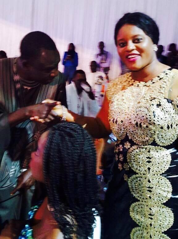 """(04Photos): La journaliste gambienne Fatu Camara à la soirée de Waly en compagnie de Sokhna Aïdara et Thione Seck, appréciez l""""élégance !"""
