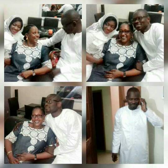 Photo : Pape Cheikh Diallo avec sa femme Kya Aïdara et son goro