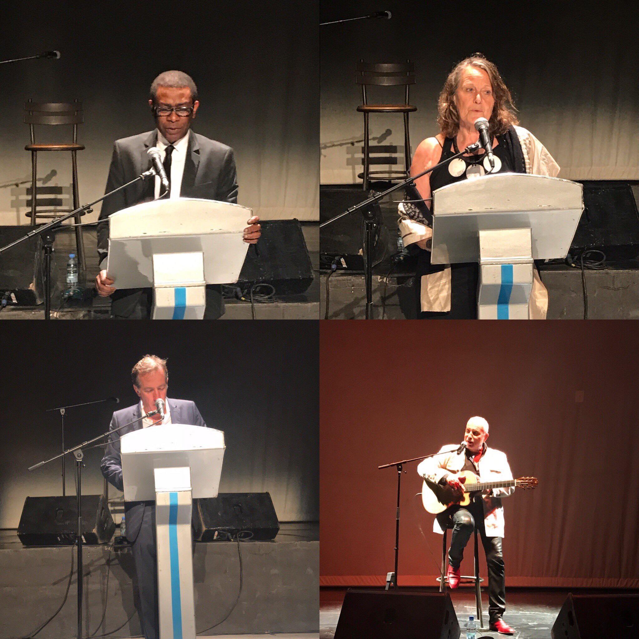 Soirée hommage à Ousmane Sow à l'Institut Français, en présence de Youssou Ndour, Souleymane Diamanka, Béatrice Soulé, Bernard Lavilliers et Christophe Bigot