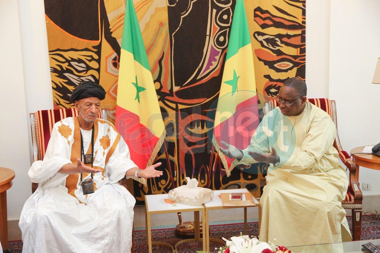 Le Président de la République a reçu en audience ce dimanche, le khalife général de Khadres, Cheikh Ayah Aïdara Ould Cheikh Talibouya