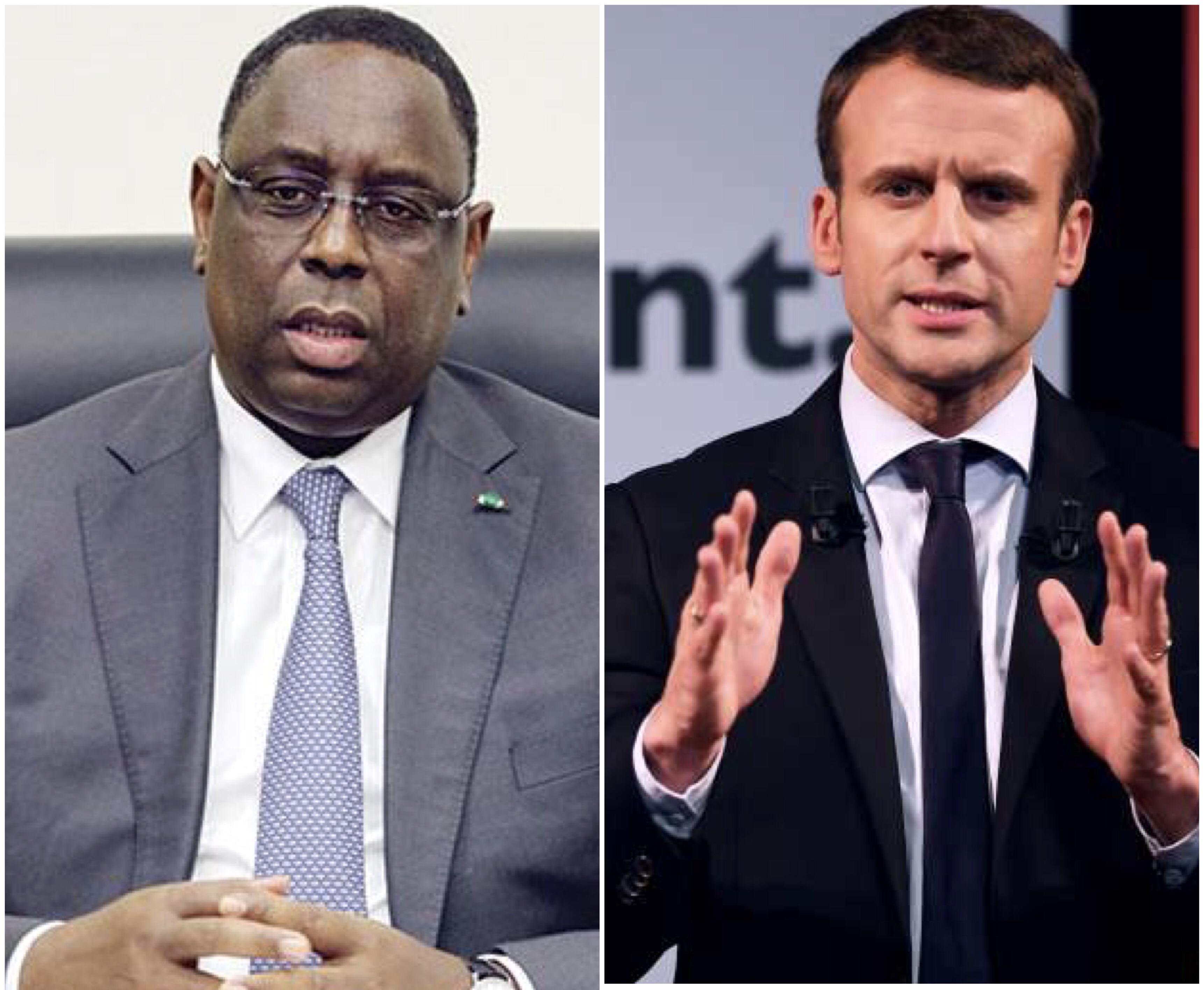 ''Chaleureuses félicitations'' du président Macky Sall à Emmanuel Macron, son homologue élu français