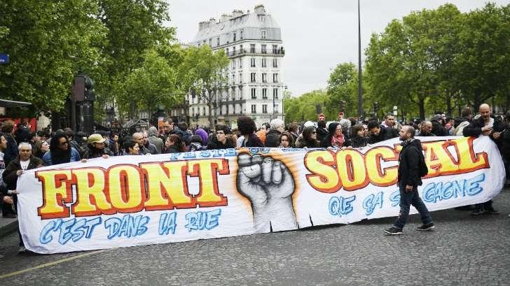 France: Première manifestation à Paris après l'élection d'Emmanuel Macron