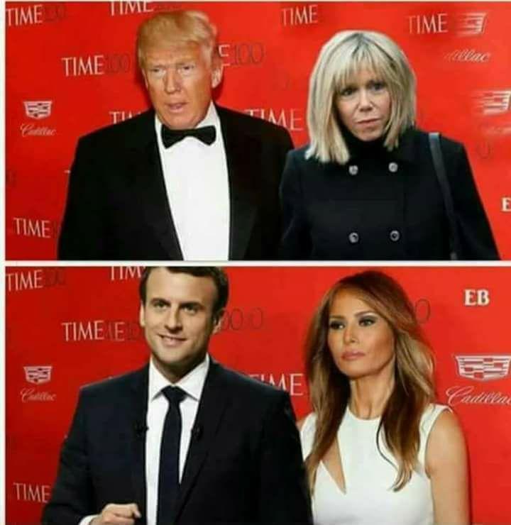 Macron-Mélanie Trump ou Donald Trump-Brigitte Trogneux, le couple présidentiel idéal?