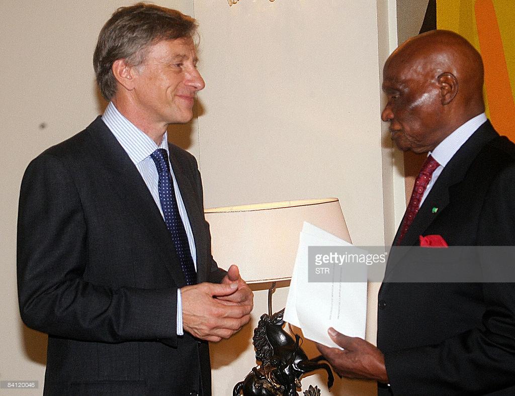 L'ancien ambassadeur Ruffin, ici avec l'ancien Président Abdoulaye Wade