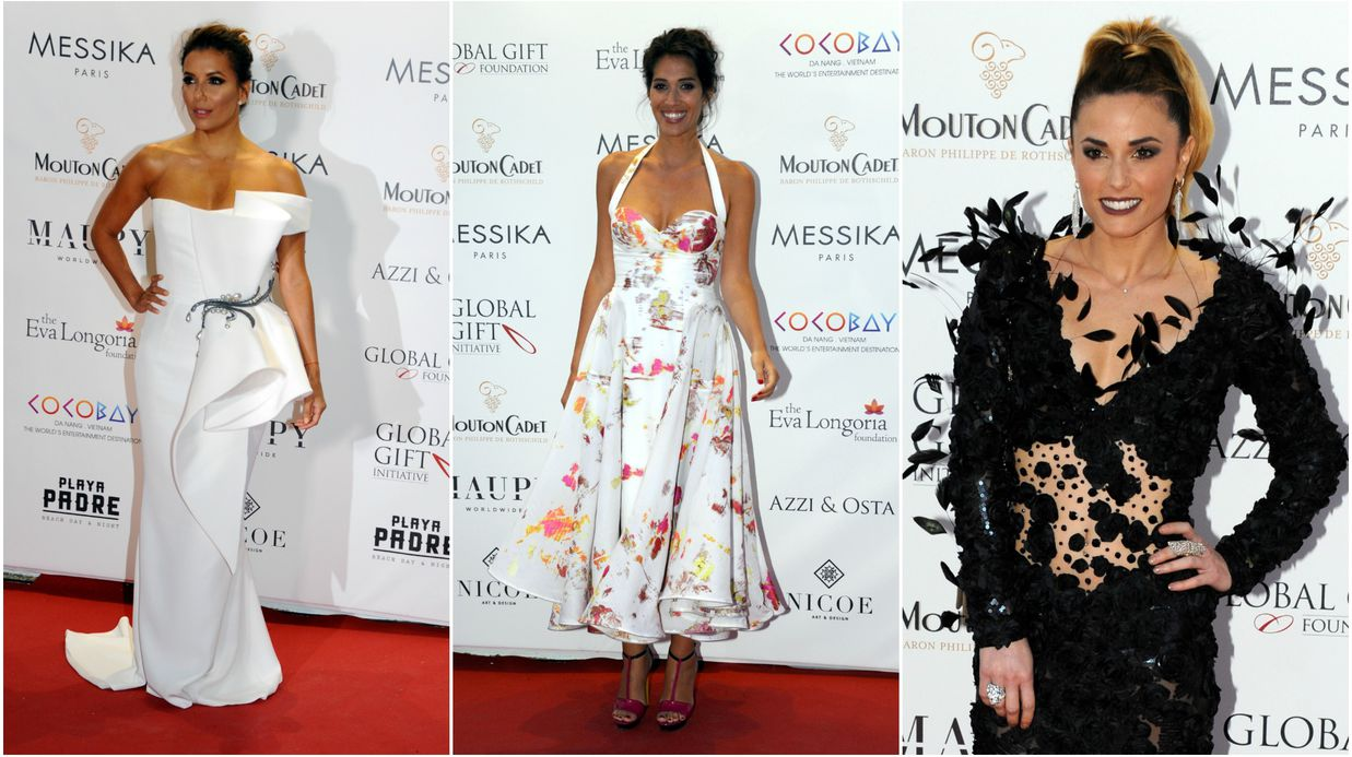 Global Gift Gala à Cannes : Eva Longoria sublime, Laurie Cholewa et Capucine Anav affichent leur décolleté plongeant