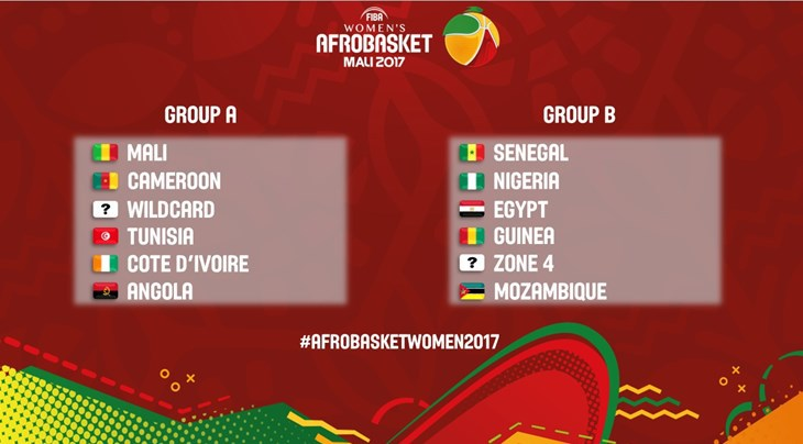 """AfroBasket 2017: Les """"Lionnes"""" dans le groupe B avec le Nigéria, le Mozambique, l'Egypte et la Guinée et…"""