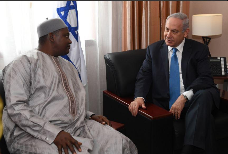 Le Premier ministre  israélien Benjamin Netanyahu s'est entretenu avec le Président  gambien, Adama Barrow à Monrovia