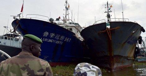 Sept bateaux chinois arraisonnés par la Marine sénégalaise