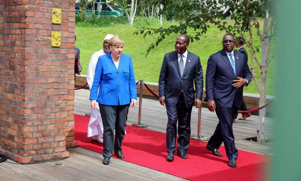 Macky Sall avec Angela Merkel, la chancelière allemande