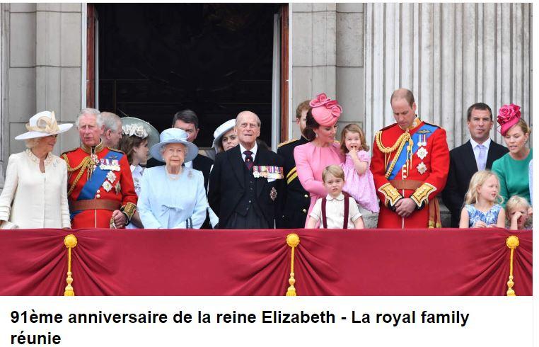 91e anniversaire de la reine Elizabeth - Kate Middleton divine, George et Charlotte TRÈS mignons (photos)