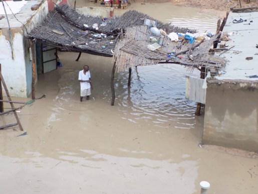 Début de l'hivernage à Tambacounda : la vallée du Mamacounda sort de son lit, plusieurs maisons se retrouvent sous les eaux.
