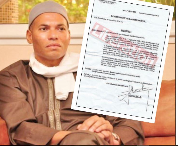 Comment Karim Wade a été gracié par Macky Sall, les révélations du décret présidentiel