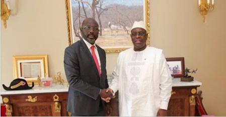 Présidentielle au Liberia : l'ex-footballeur George Weah consulte Macky Sall