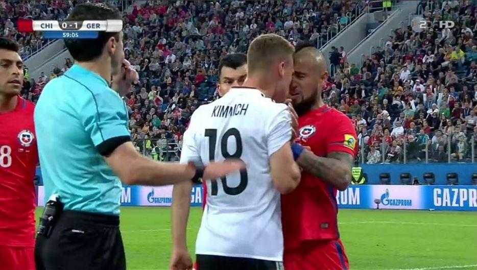 Altercation entre Kimmich et Vidal lors de la finale de la Coupe des Confédérations