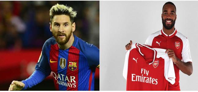 Mercato - Le Barça acte la prolongation de Messi, Alexandre Lacazette signe en faveur d'Arsenal