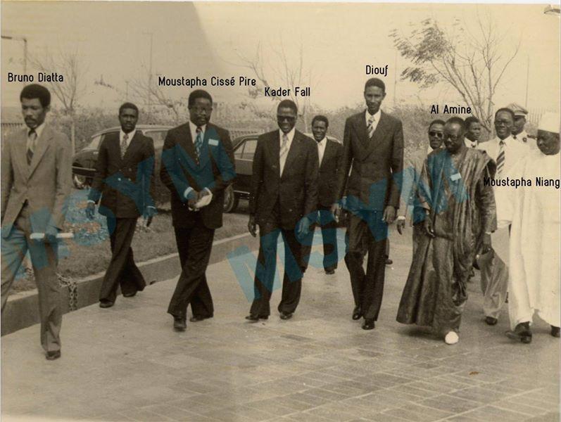 Photo : Abdoul Aziz Sy Al Amine, Moustapha Cissé Pire, Abdou Diouf, Kader Fall et Bruno Diatta