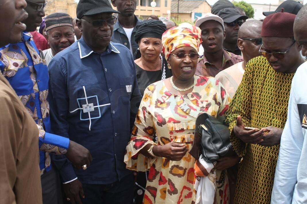 Diène Farba Sarr et Me Nafissatou Diop en visite dans les zones inondées à Kaolack