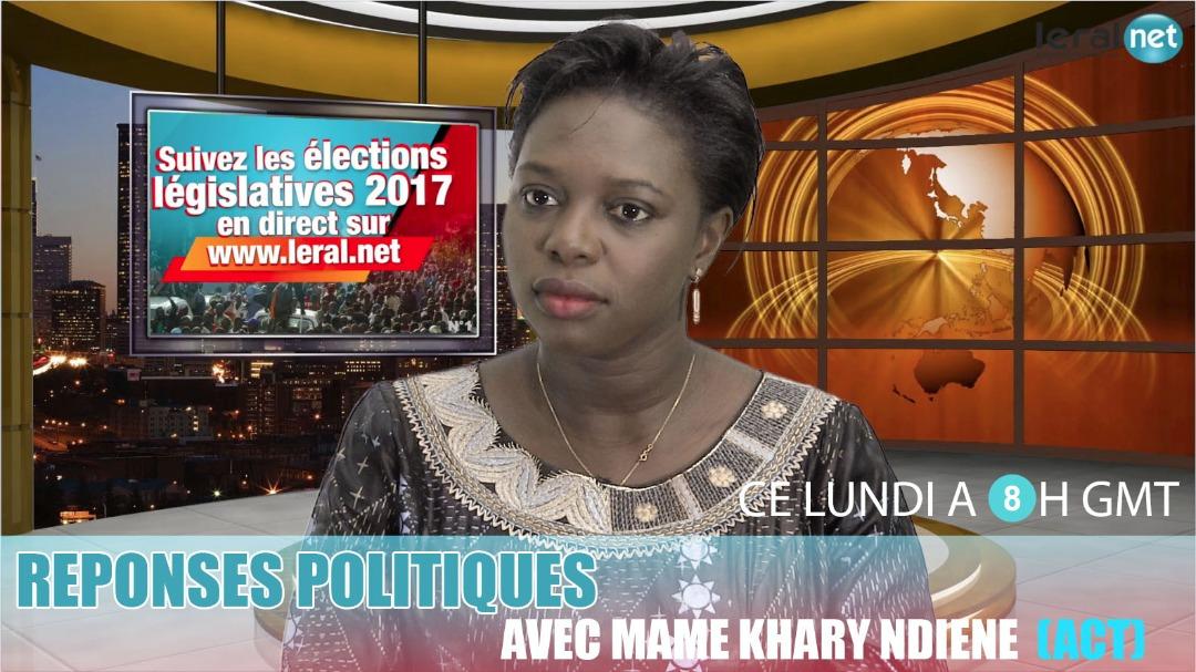 """Mame Khary Diène de l'Alliance pour la citoyenneté et le travail (ACT), invitée de """"Réponses politiques"""", ce lundi à 8H GMT"""