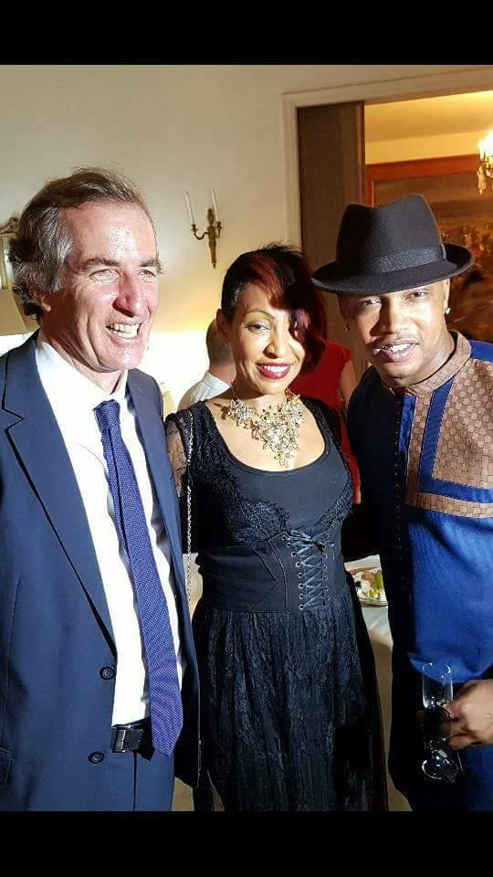 Photos: Viviane Chidid, Coumba Gawlo et El Hadji Diouf à l'occasion de la fête Nationale de la République Française