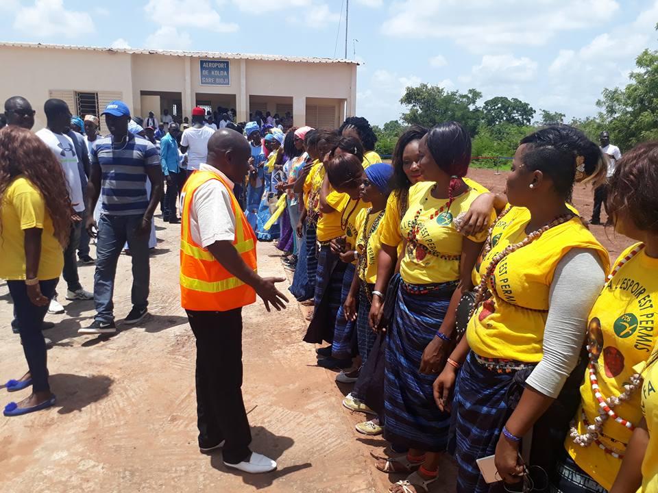 Arrivée de Me Abdoulaye Wade  à Kolda (images)