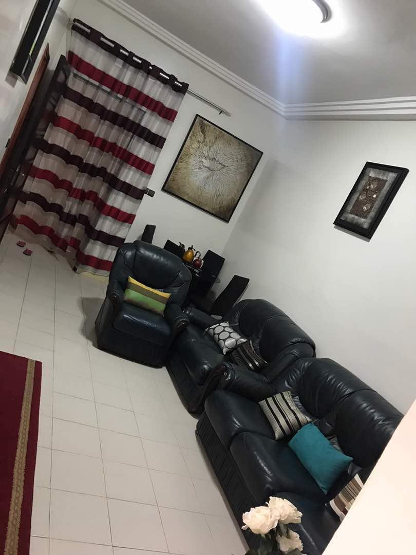Appartement meublé à louer 2 chambres salon sur la Vdn à côté du cimetière Saint Lazare