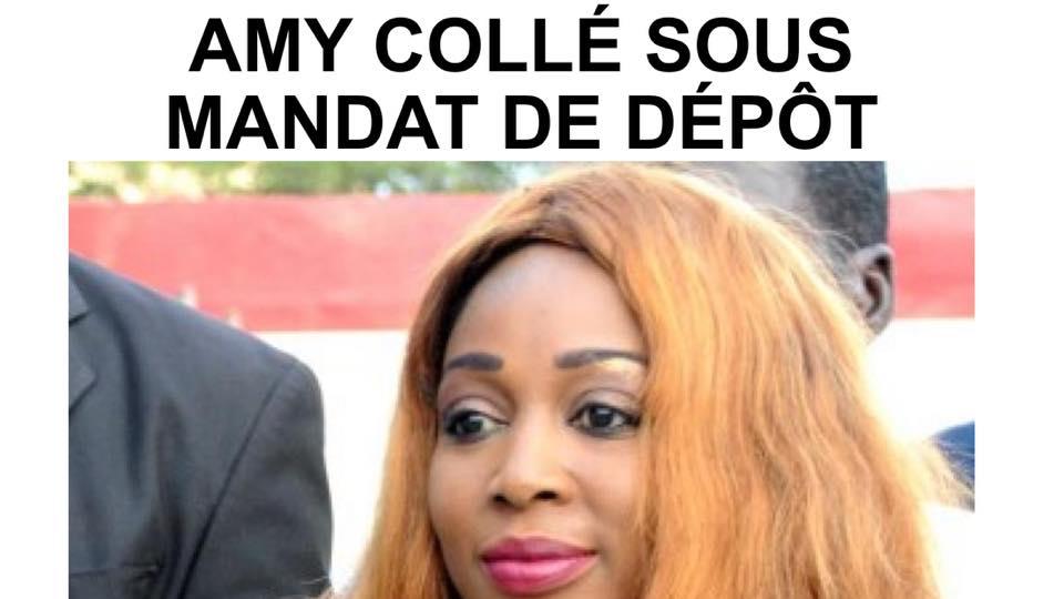 Placée sous mandat de dépôt, Amy Collé Dieng rejoint Penda Bâ en prison