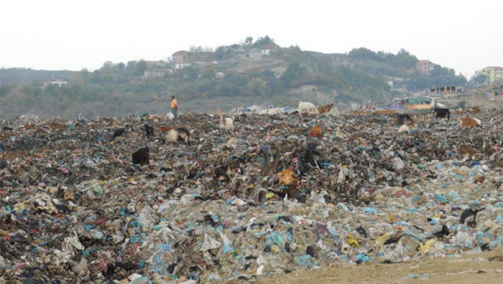 Une décharge sauvage en Albanie (photo d'illustration).