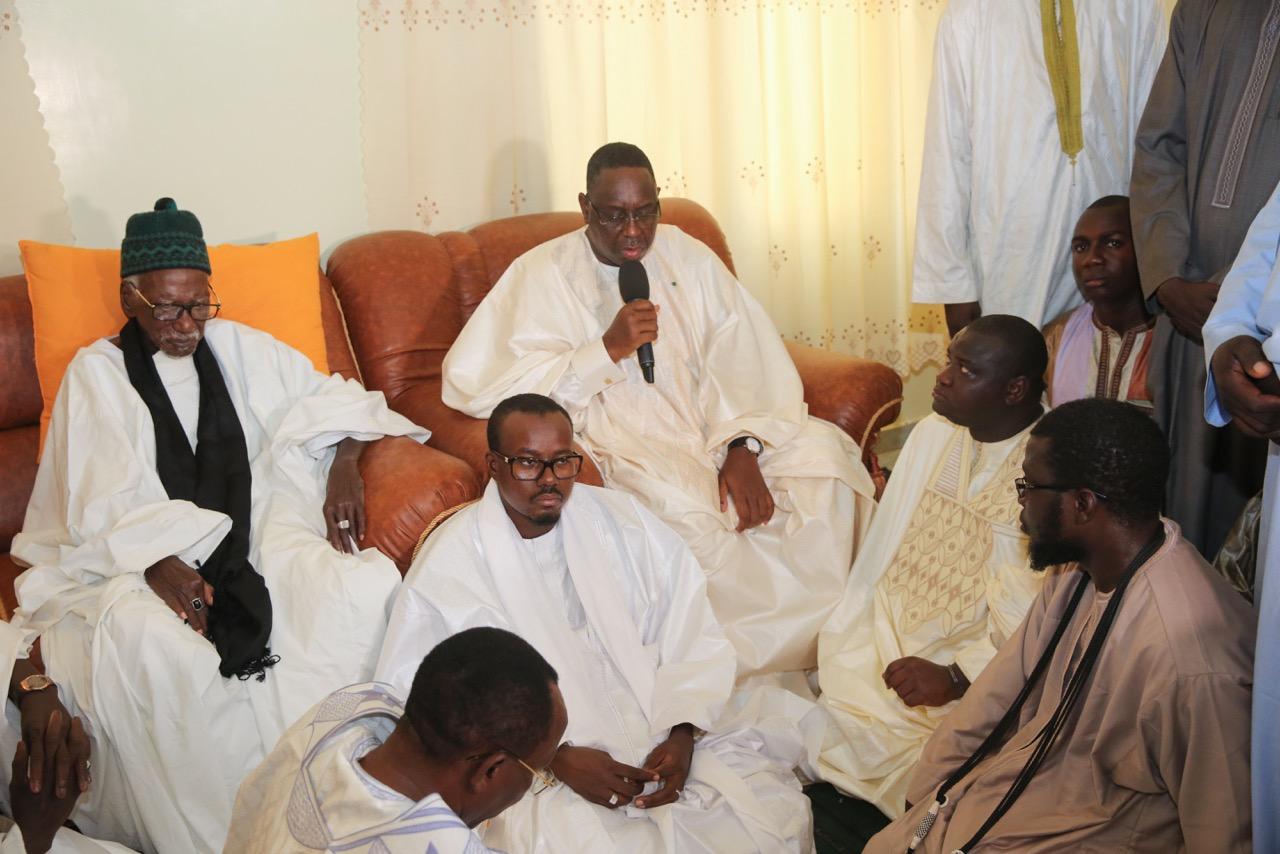 Photos : les condoléances du Président Macky Sall, suite au rappel a Dieu de Serigne Abdou Fatah Mbacke Gaïnde Fatma
