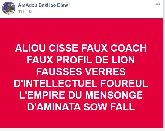 Burkina-Sénégal 2-2 : Aliou Cissé et son coaching lynchés par les internautes sur facebook