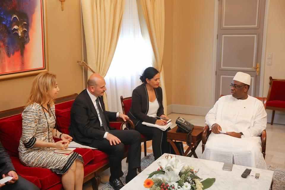 Harmonisation juridique des accords sur la sécurité et de commerce : Macky Sall reçoit le Ministre turc de l'Intérieur, M. Suleyman SOYLU