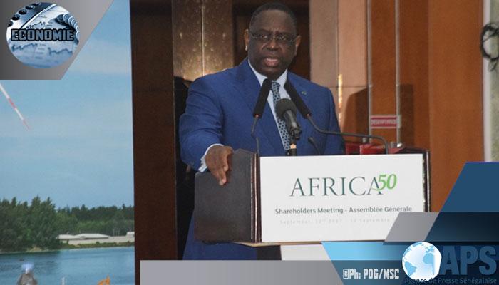 Macky Sall à l'Assemblée générale d'Arica50:« le Sénégal consacre plus de 3 021 milliards de Fcfa pour le renforcement des infrastructures socio-économiques, sur la période 2017 -2019 »