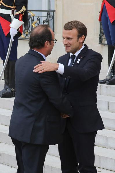 Macron, Hollande et Sarkozy réunis à l'Elysée pour fêter Paris 2024