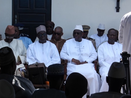 """Macky Sall à la levée du corps de Djibo Kâ : """"Le Sénégal a perdu un homme de dialogue"""""""