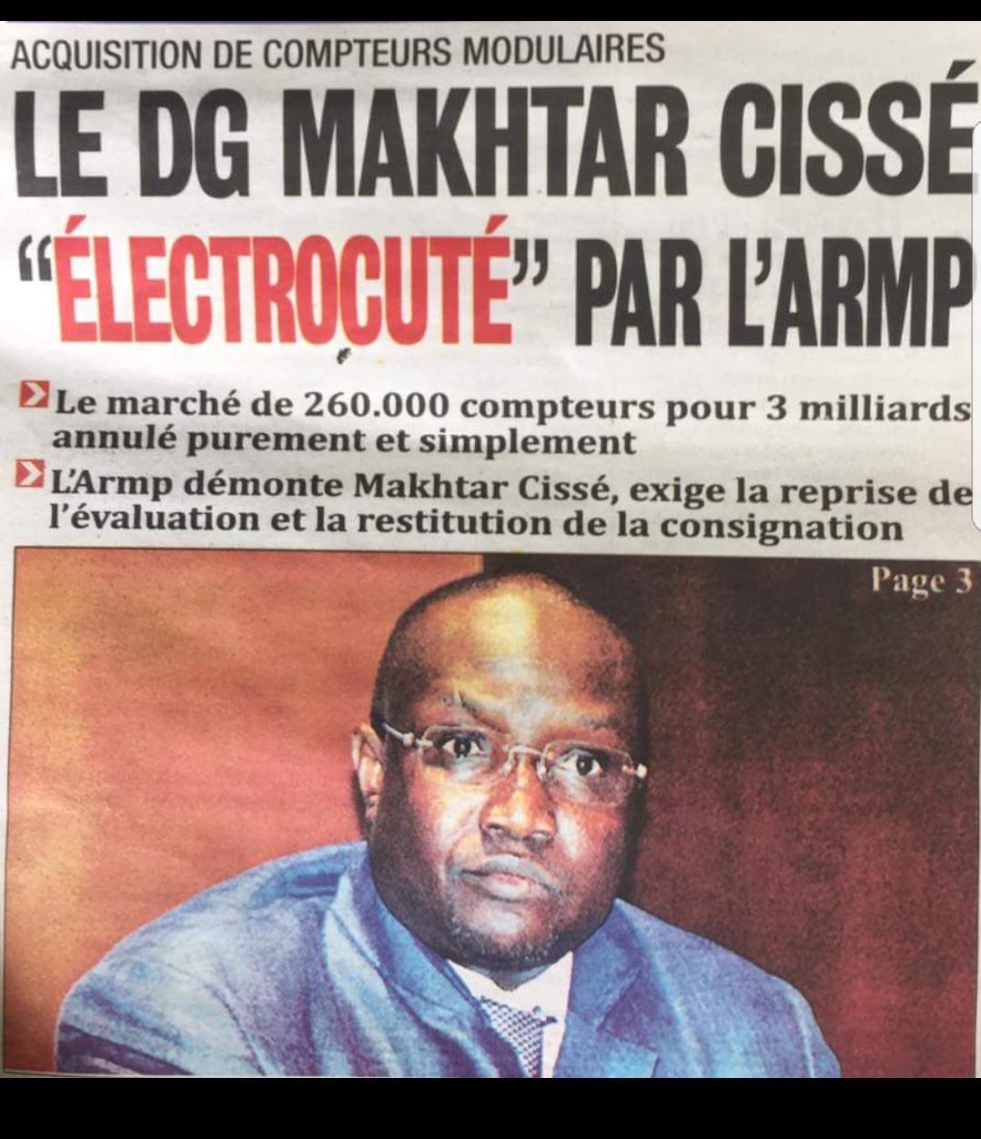 Mais, qui en veut à Mouhamadou Makhtar Cissé ? Des prétendants au poste de DG de SENELEC, déçus qu'il ne soit pas ministre, lancent une maladroite cabale médiatique
