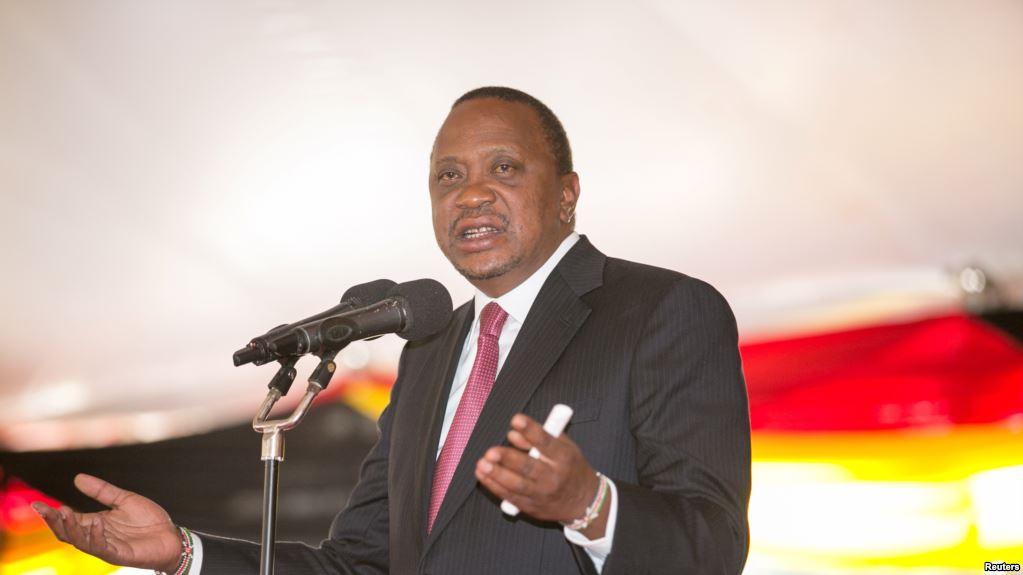 Le président Uhuru Kenyatta donne un discours au palais présidentiel, à Nairobi, le 21 septembre 2017.