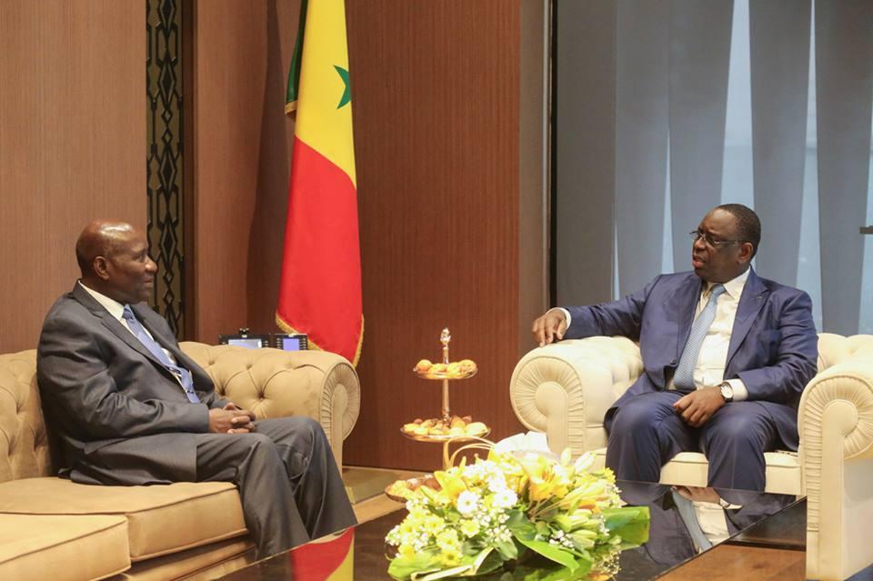 Axe Dakar-Abidjan : Daniel Kablan Ducan, le Vice Président de la Côte d'Ivoire a délivré à Macky Sall un message du Président Alassane Ouattara
