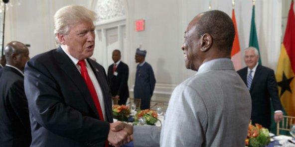 Alassane Ouattara, Macky Sall et Alpha Condé à la table de Donald Trump