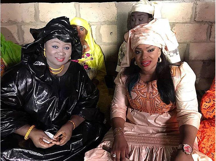 """Photo: Mado Diaw de la TFM et Diodo Mbaye de la série """"Double vie"""", toutes ravissantes"""