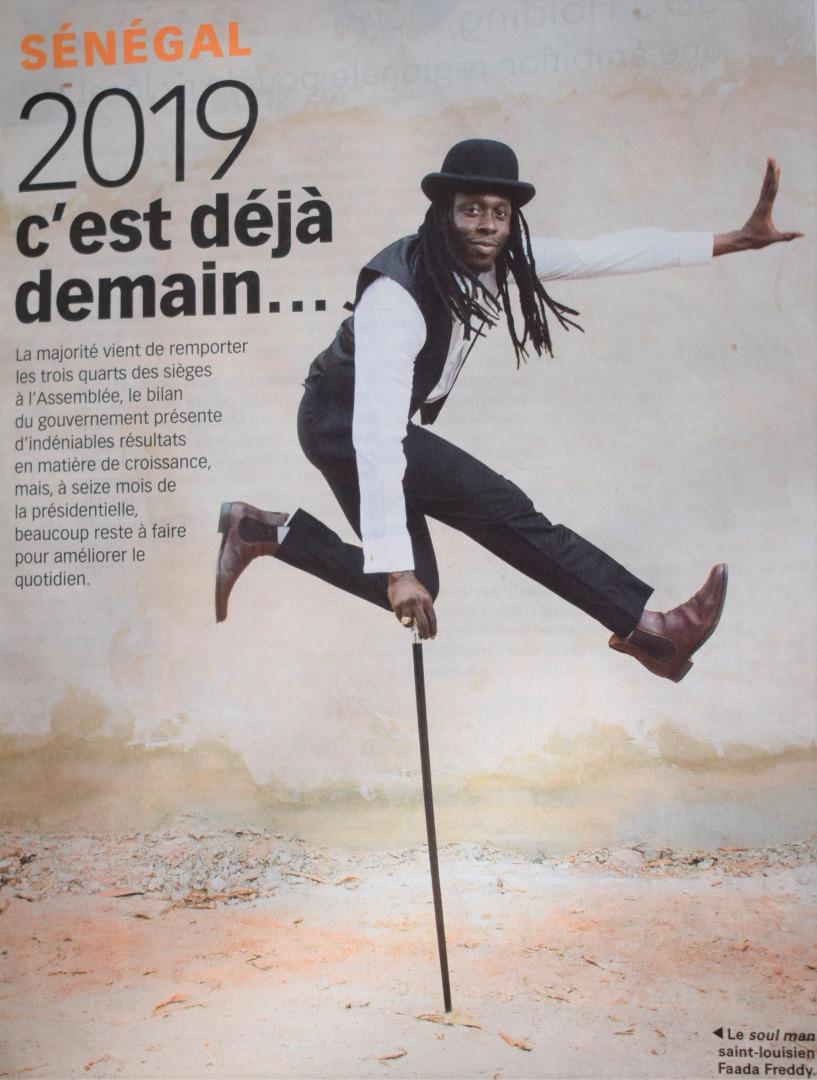 Photos : Fadda Freddy illustre la page spéciale réservée au Sénégal par JA Mag