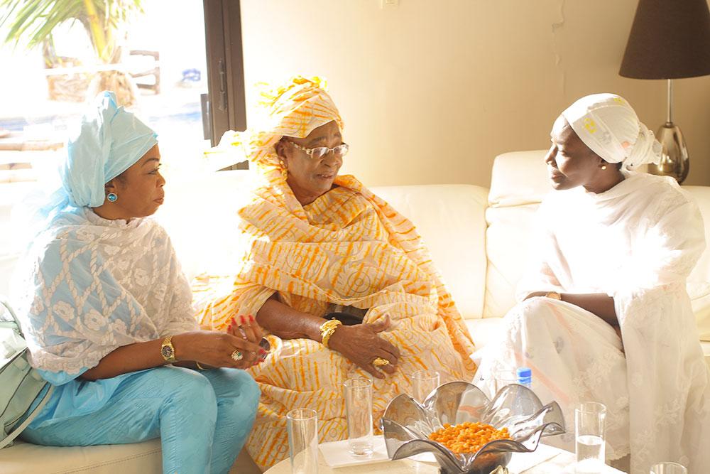 Photos : Adja Ndèye Sokhna Mboup, la maman de Youssou Ndour et Aby Ndour chez Coumba Gawlo Seck