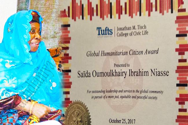 Une université américaine récompense Sayda Oumoulkhairy Niasse, fille de Baye Niasse