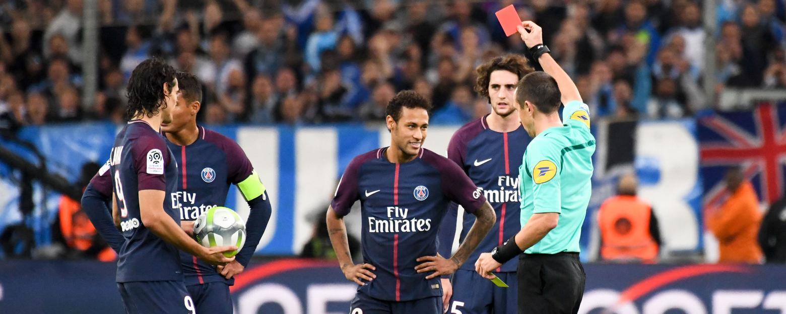 OM-PSG : Neymar suspendu un match ferme