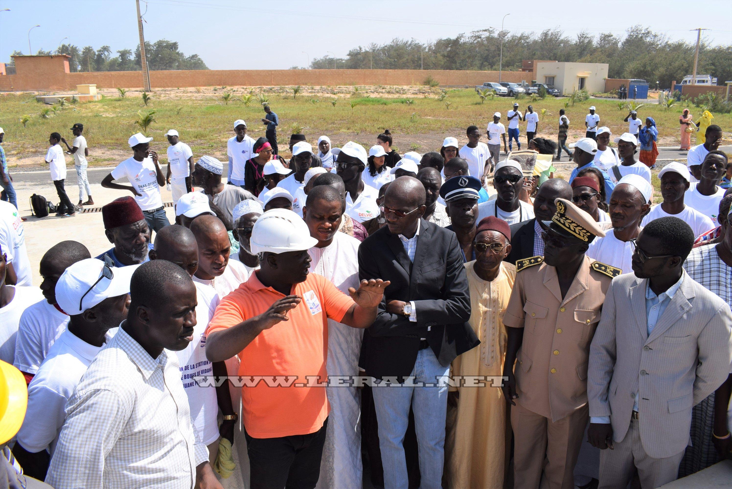 Photos-Tivaouane Peulh : Inauguration d'une station de traitement des boues de vidange par le Directeur général de l'ONAS