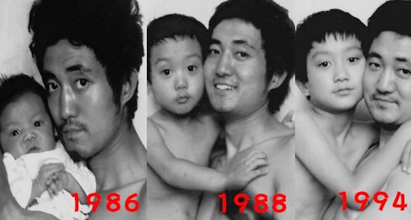 Père et fils prennent la même photo pendant 27 ans - La dernière vous fera pleurer