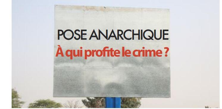 Pose anarchique des panneaux publicitaires à Dakar: À qui profite le crime?