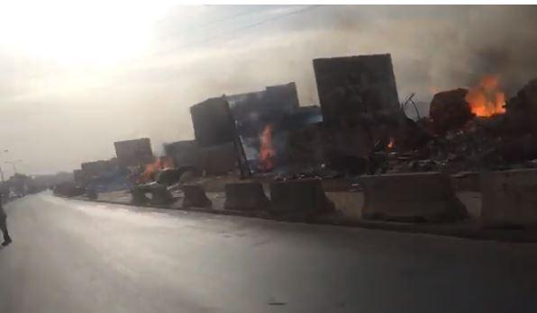 L'incendie au « Parc Lambaye » plonge Dakar dans un black-out total