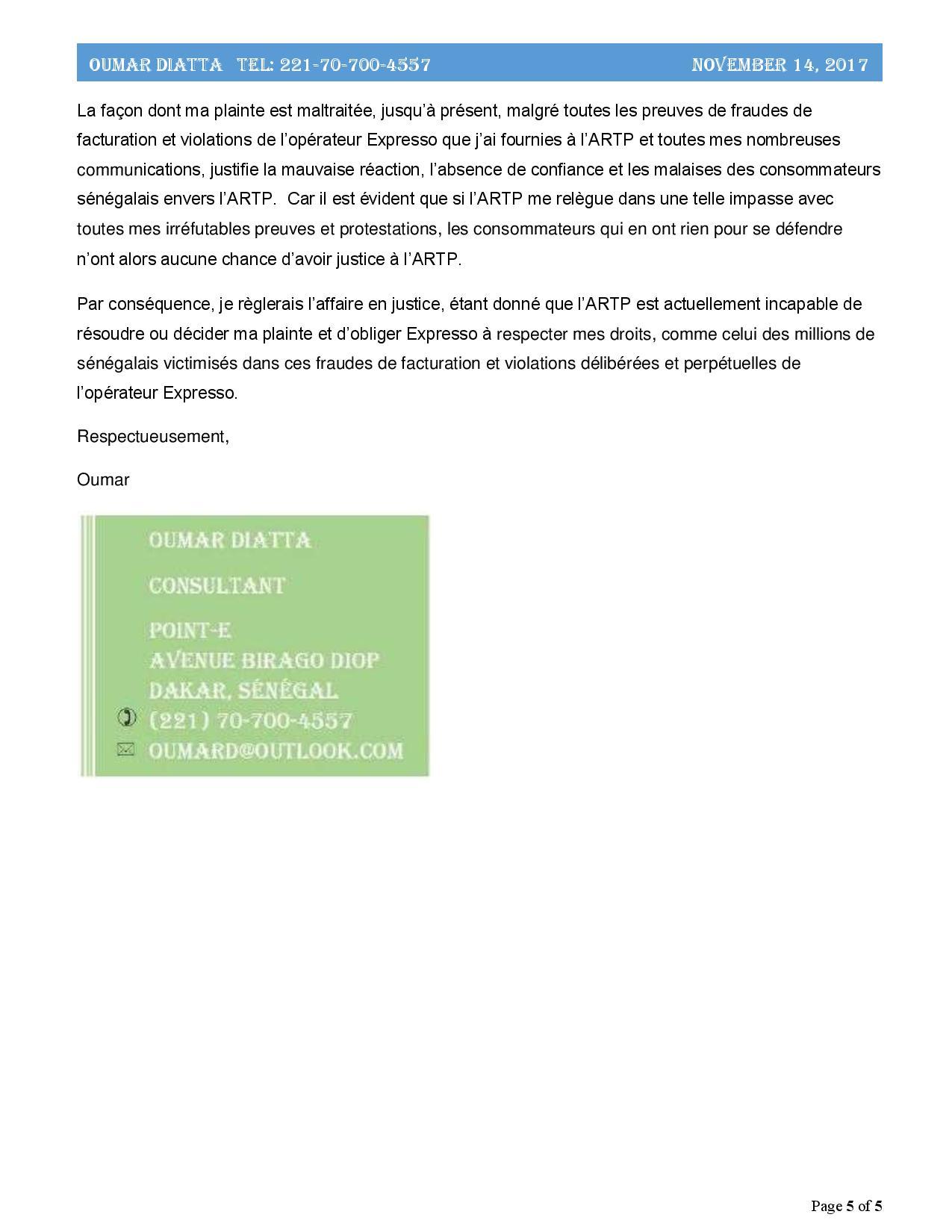 L'Artp a-t-elle des raisons de protéger l'opérateur Expresso ? ( Partie II)